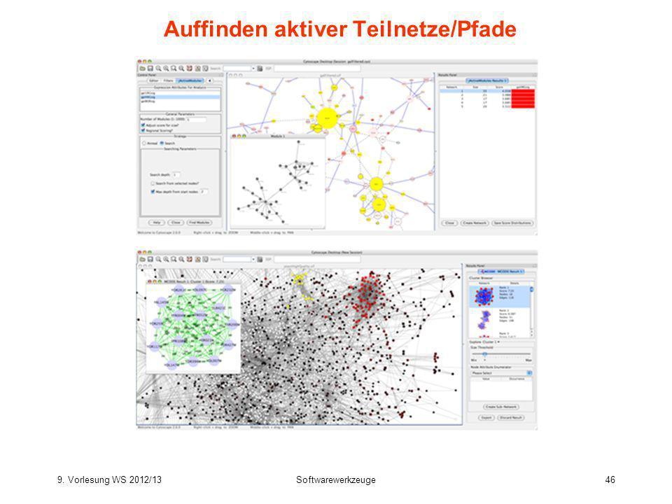 9. Vorlesung WS 2012/13Softwarewerkzeuge46 Auffinden aktiver Teilnetze/Pfade