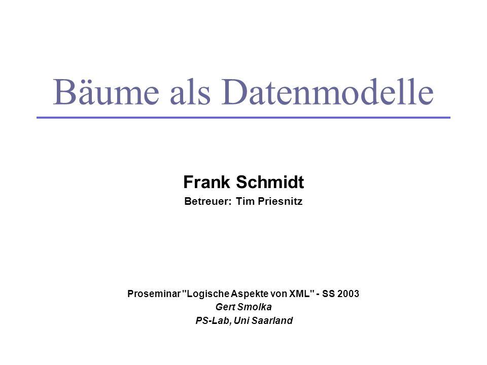 Frank Schmidt Betreuer: Tim Priesnitz Proseminar