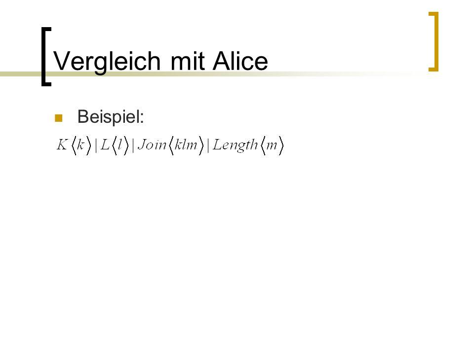Vergleich mit Alice Beispiel: