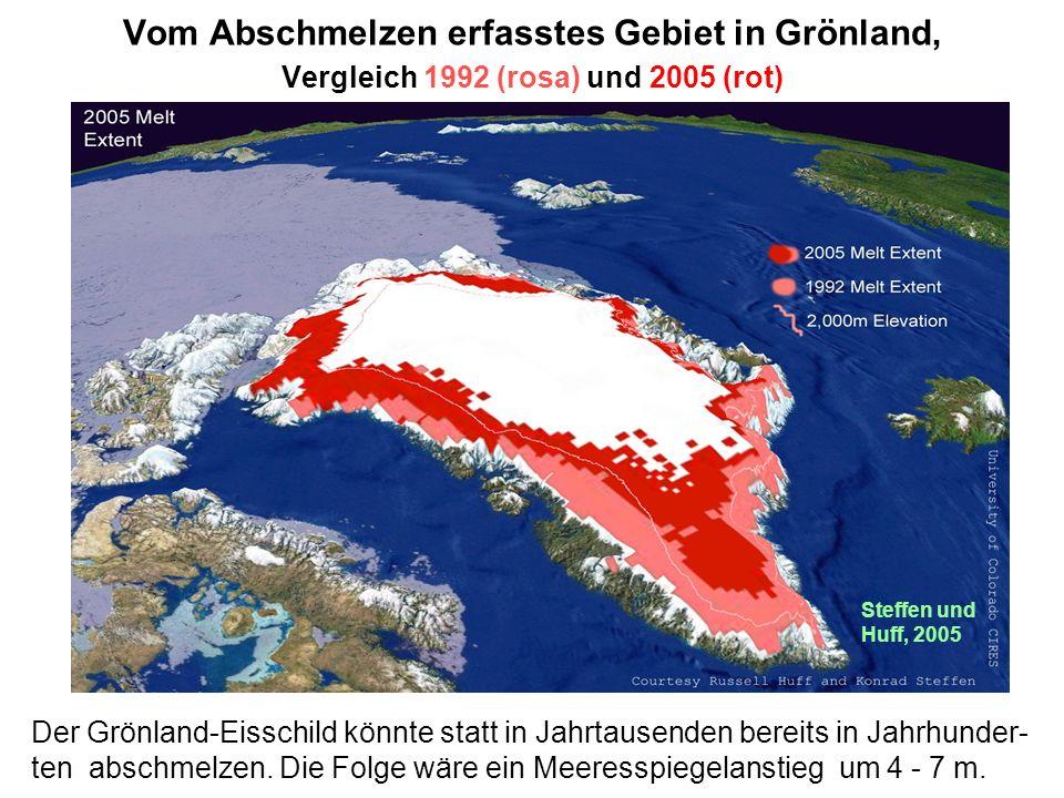 Eindeutiger Trend: Seit Beginn der Satellitenbeobachtung hat die Ausdehnung des Meereises drastisch abgenommen. ©National Snow and Ice Data Center BQu