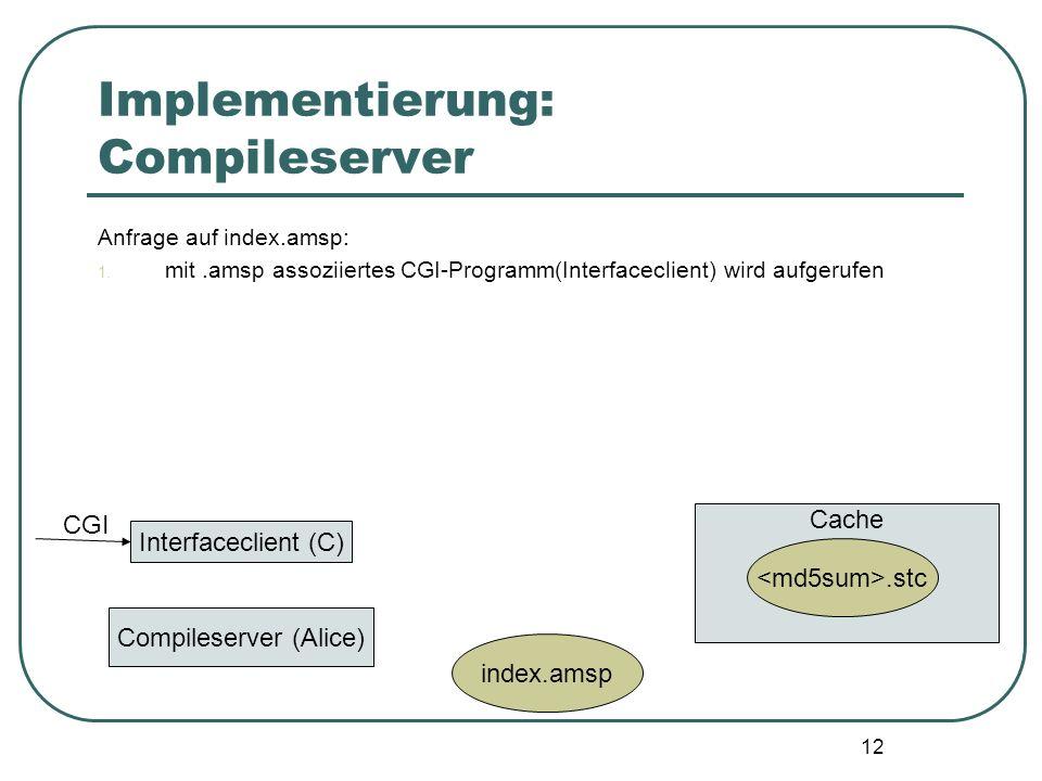 11 Beispiel... 1 2 6 24 120 HTML-output <?AMSP type formvar = { n : int option } ?>../index.amsp?n=6... <?AMSP val _ = List.app (fn x=> print(
