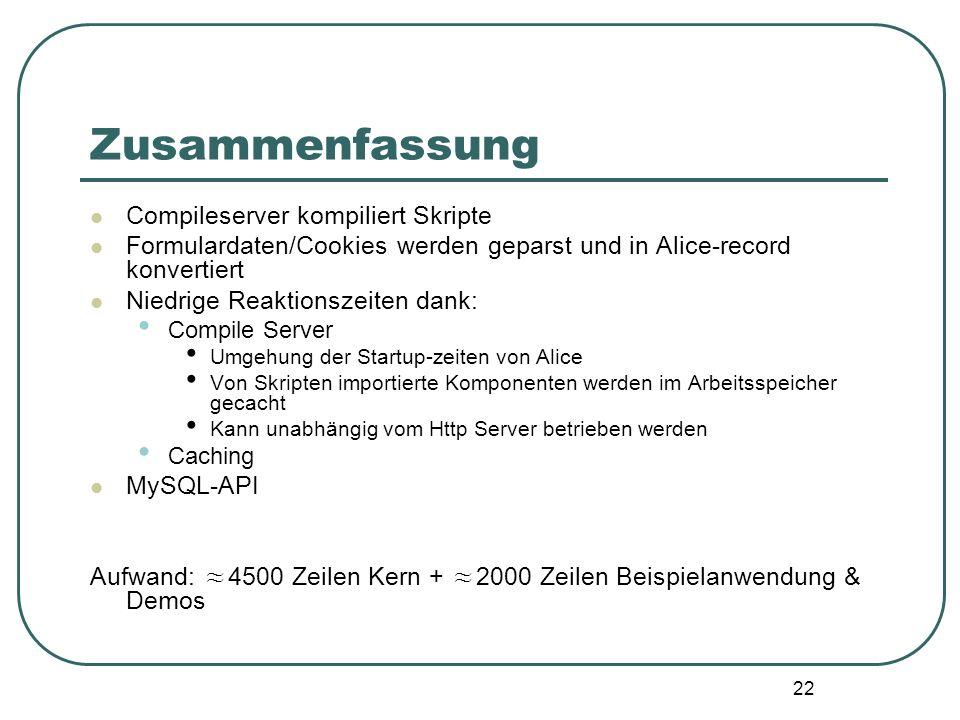 21 verwandte Projekte Alice Server PagesPHP + High-level Interface zum Zugriff auf Formulardaten/Cookies mit statischer Typprüfung + dynamische Daten