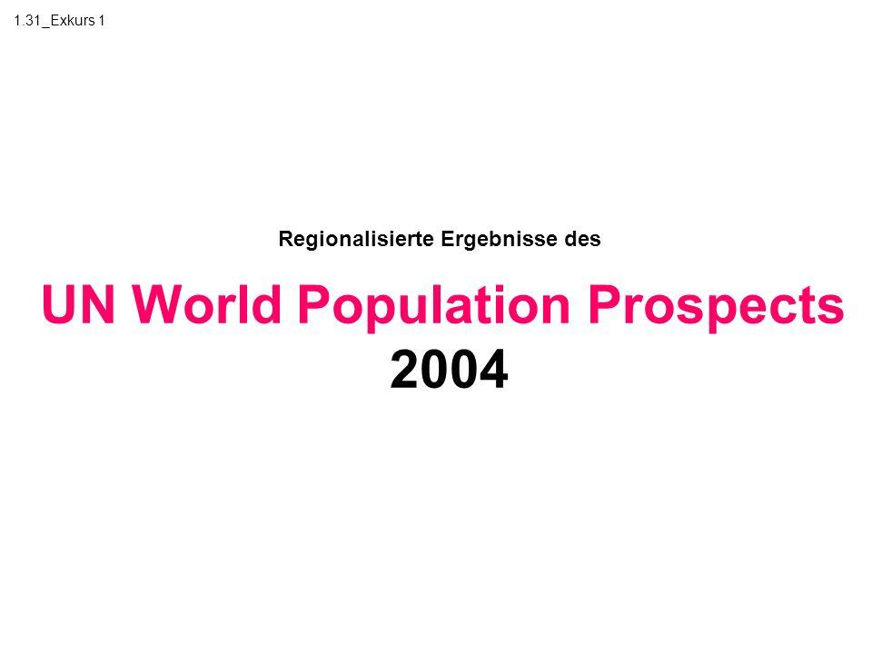 1.31_Exkurs 1 Regionalisierte Ergebnisse des UN World Population Prospects 2004