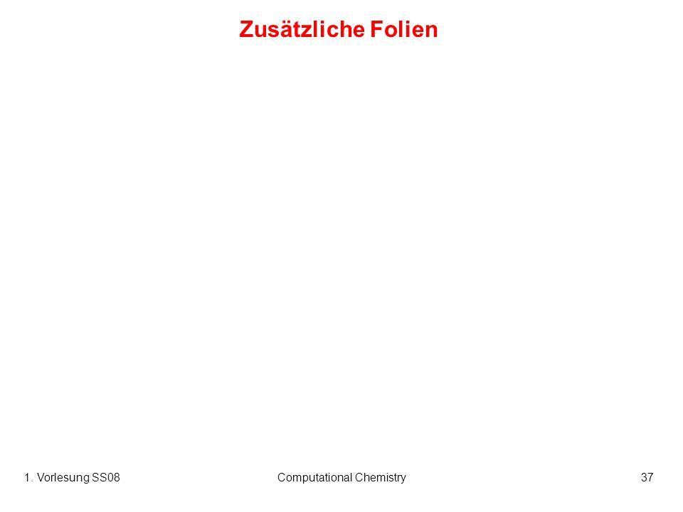 1. Vorlesung SS08Computational Chemistry37 Zusätzliche Folien