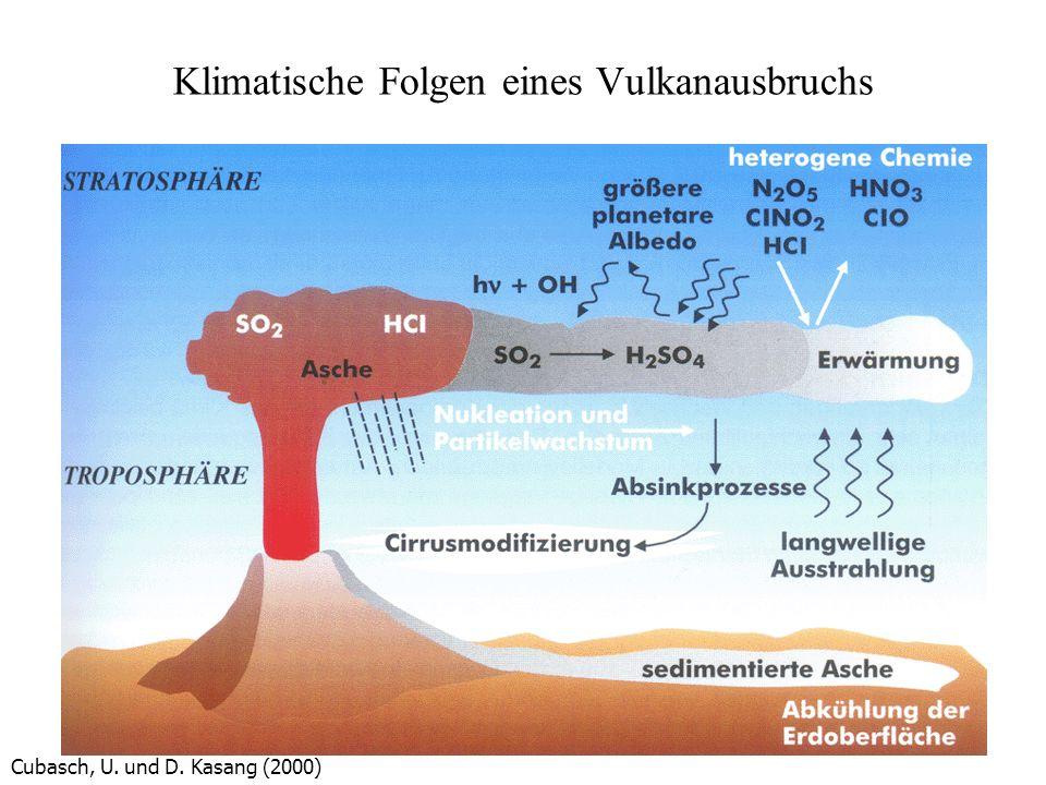 Klimatische Folgen eines Vulkanausbruchs Cubasch, U. und D. Kasang (2000)