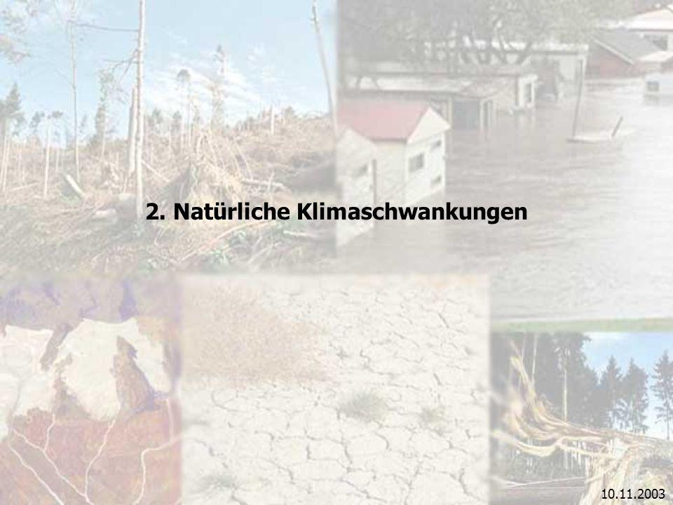 10.11.2003 2. Natürliche Klimaschwankungen