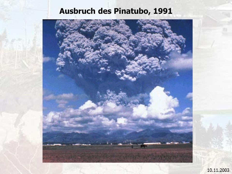 10.11.2003 Ausbruch des Pinatubo, 1991