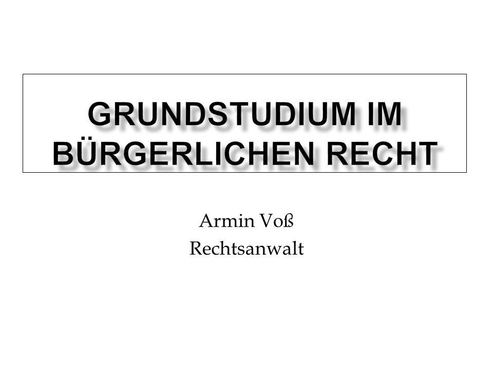 Armin Voß Rechtsanwalt