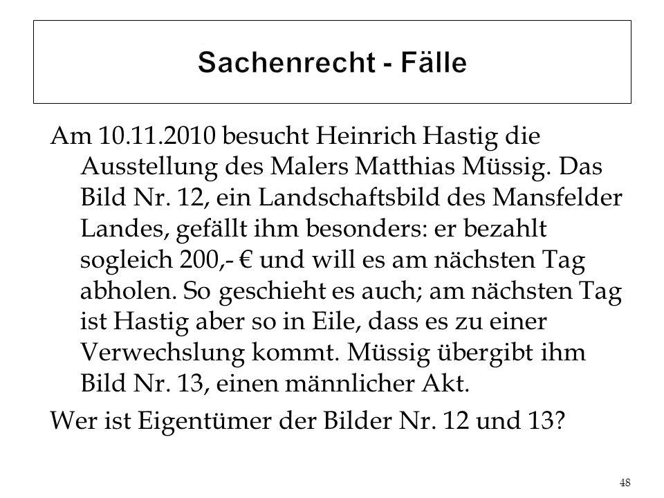 Am 10.11.2010 besucht Heinrich Hastig die Ausstellung des Malers Matthias Müssig.