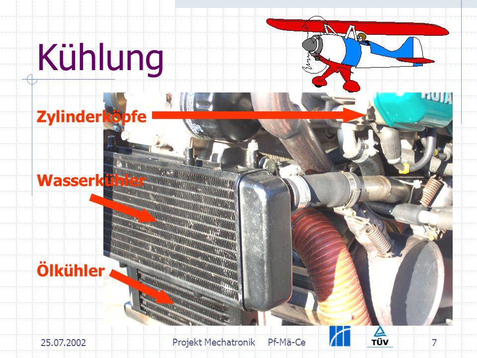 25.07.2002 Projekt MechatronikPf-Mä-Ce 7 Kühlung Wasserkühler Ölkühler Zylinderköpfe