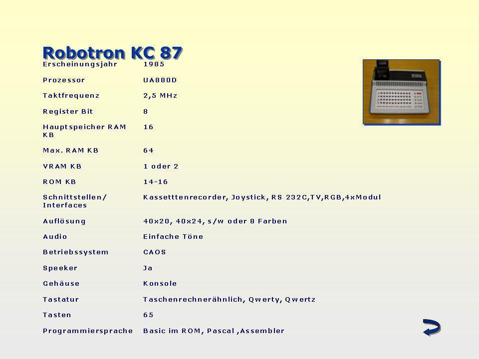 Robotron KC 87