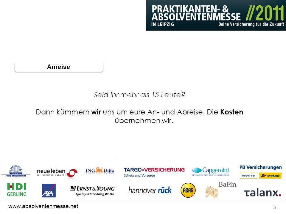 4 www.absolventenmesse.net WANN 25.