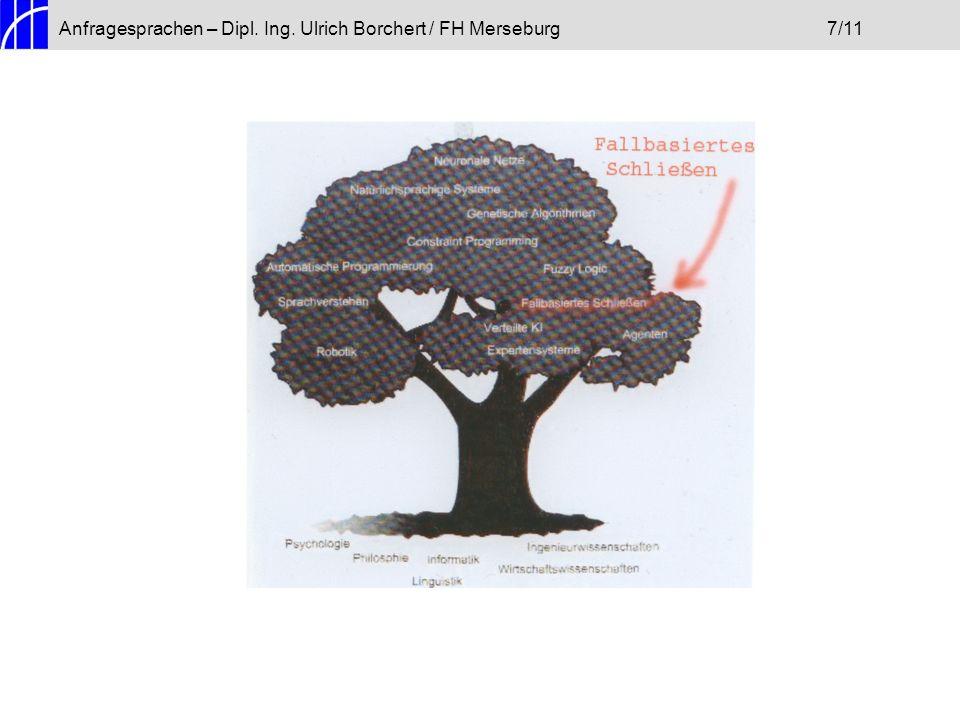 Anfragesprachen – Dipl. Ing. Ulrich Borchert / FH Merseburg7/11