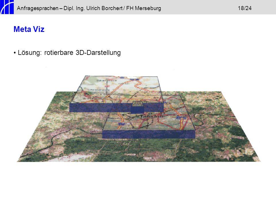 Anfragesprachen – Dipl. Ing. Ulrich Borchert / FH Merseburg18/24 Meta Viz Lösung: rotierbare 3D-Darstellung