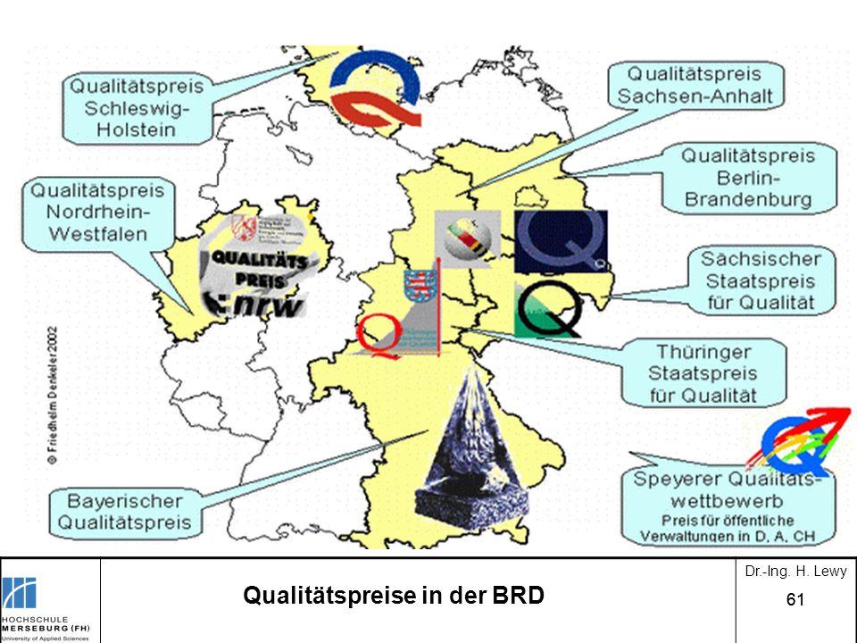 61 Qualitätspreise in der BRD Dr.-Ing. H. Lewy