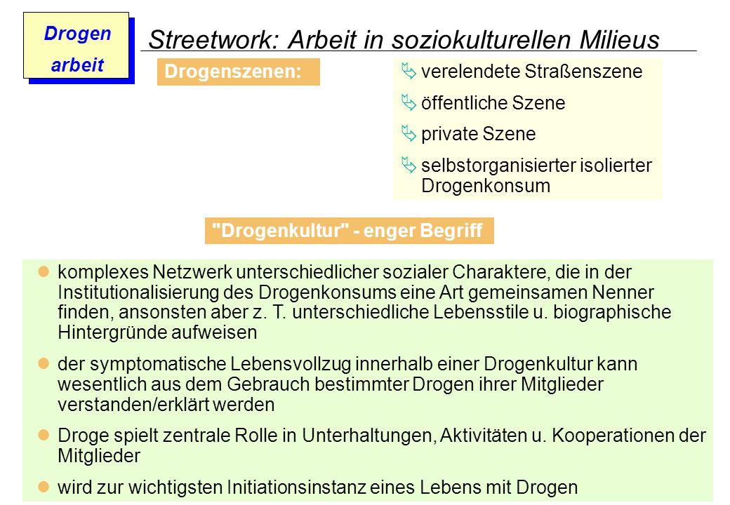 Prof. Dr. Gundula Barsch Drogen arbeit Streetwork: Arbeit in soziokulturellen Milieus