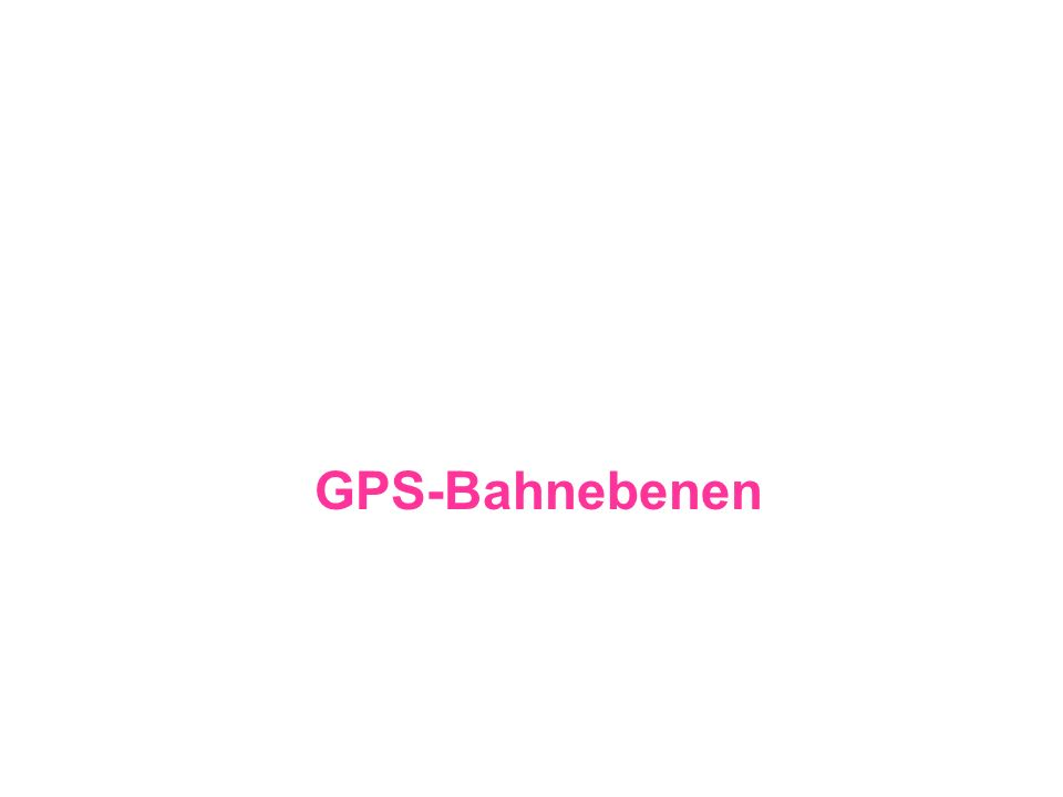 GPS-Bahnebenen