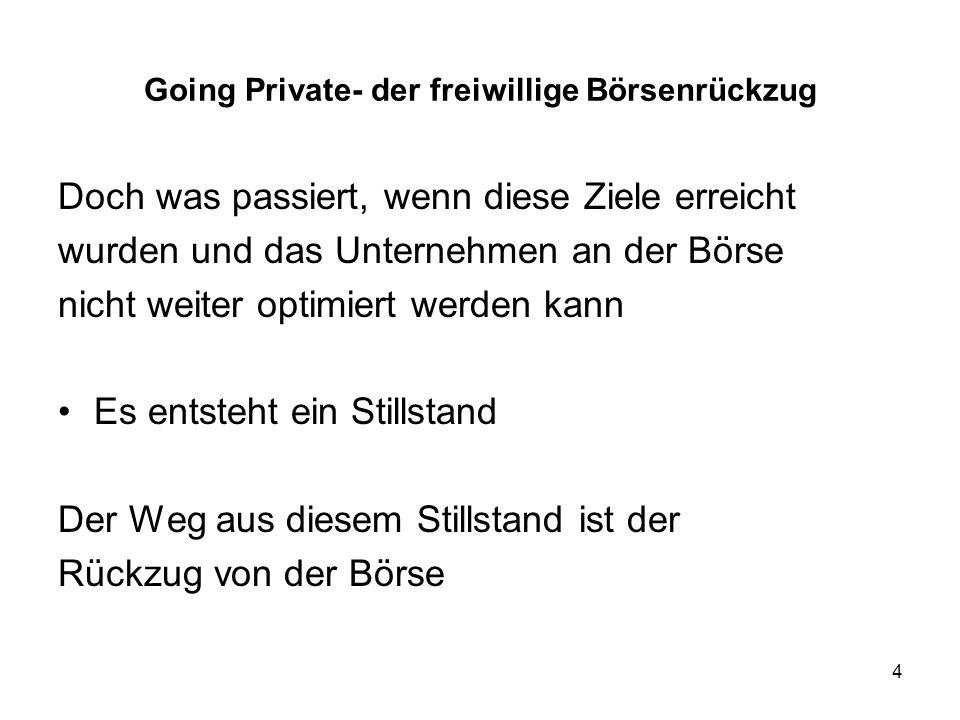 35 Going Private- der freiwillige Börsenrückzug 3.