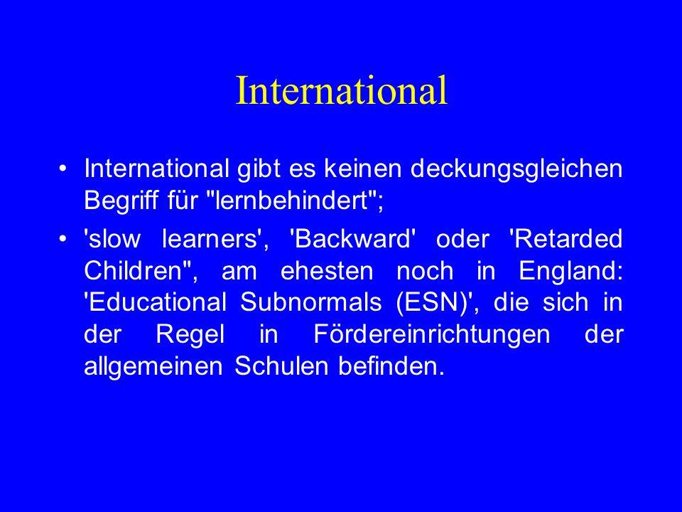 International International gibt es keinen deckungsgleichen Begriff für