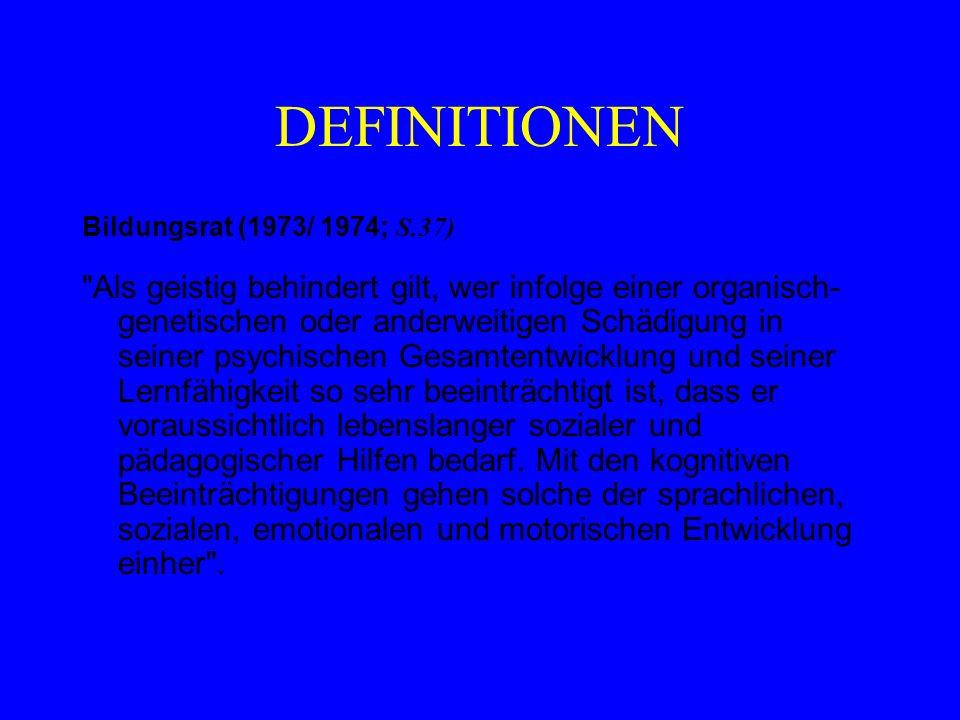 DEFINITIONEN Bildungsrat (1973/ 1974; S.37)