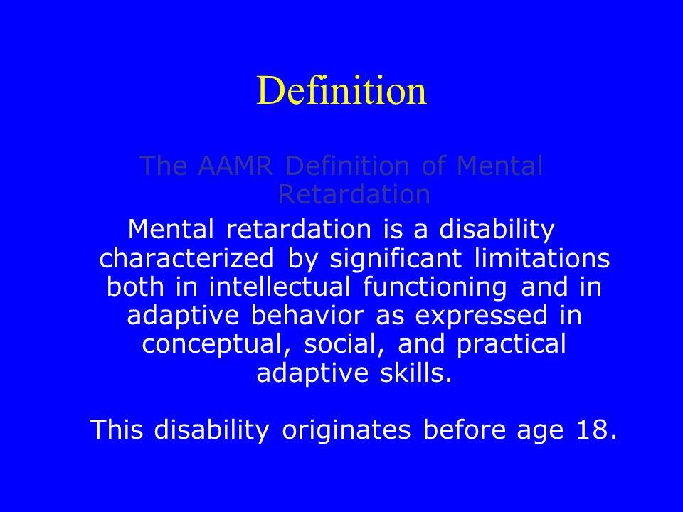 Definition Nach Wendeler (1993) liegt bei geistiger Behinderung schwache soziale Kompetenz in Verbindung mit niedriger Intelligenz vor.