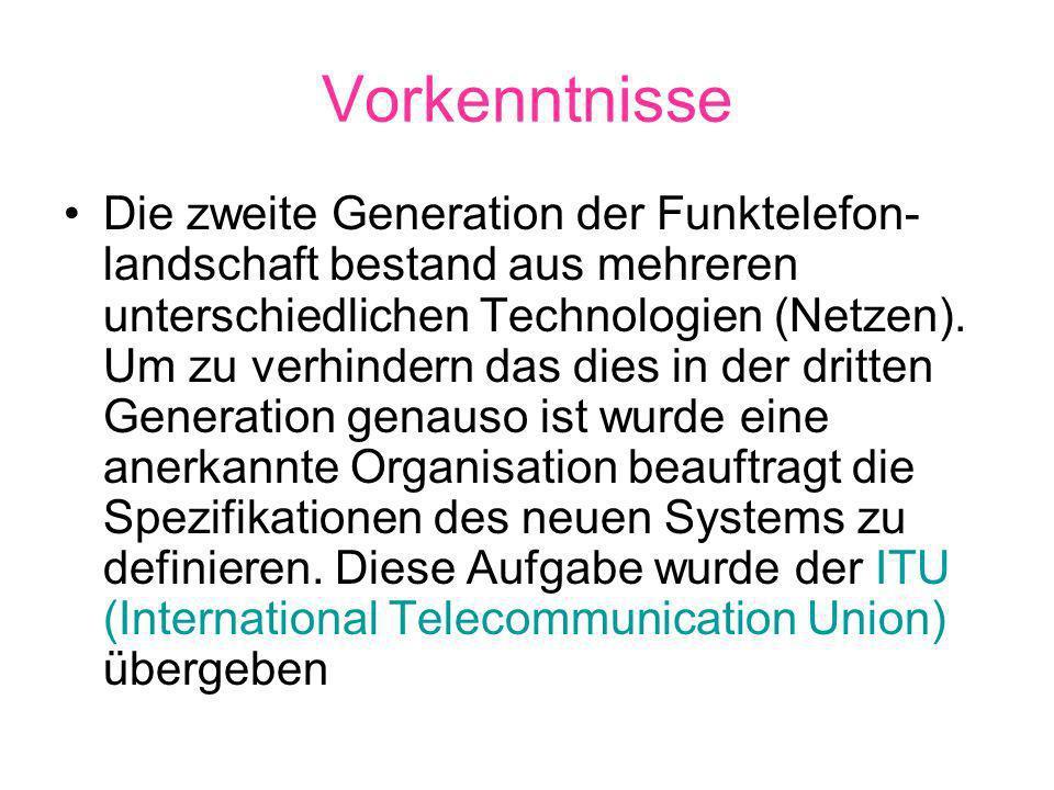 Vorkenntnisse Die zweite Generation der Funktelefon- landschaft bestand aus mehreren unterschiedlichen Technologien (Netzen).