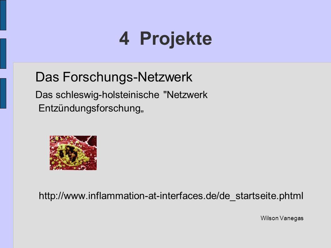 4 Projekte Das Forschungs-Netzwerk Das schleswig-holsteinische