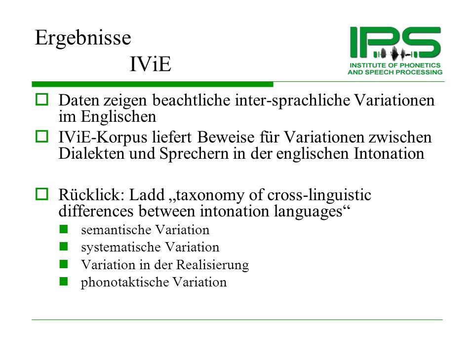 IViE Ergebnisse