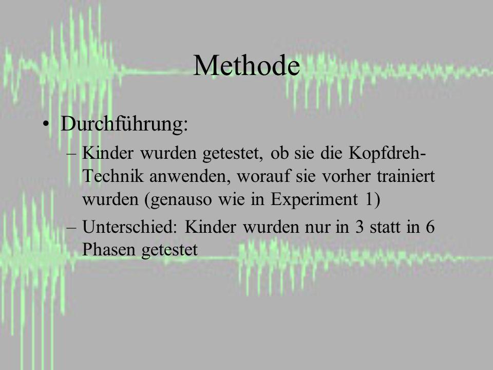 Methode –Die erste und die zweite Phase, d.h.