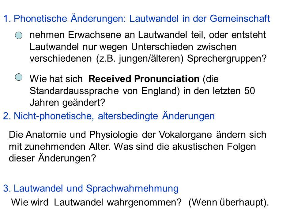 1.Phonetische Änderungen: Lautwandel in der Gemeinschaft 2.