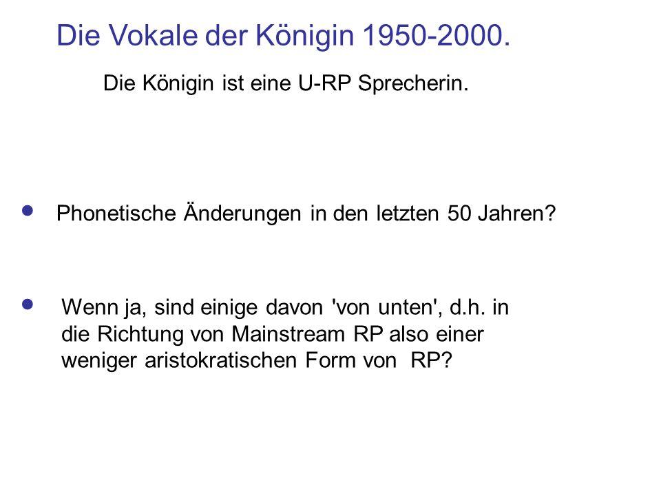 Die Vokale der Königin 1950-2000.Phonetische Änderungen in den letzten 50 Jahren.