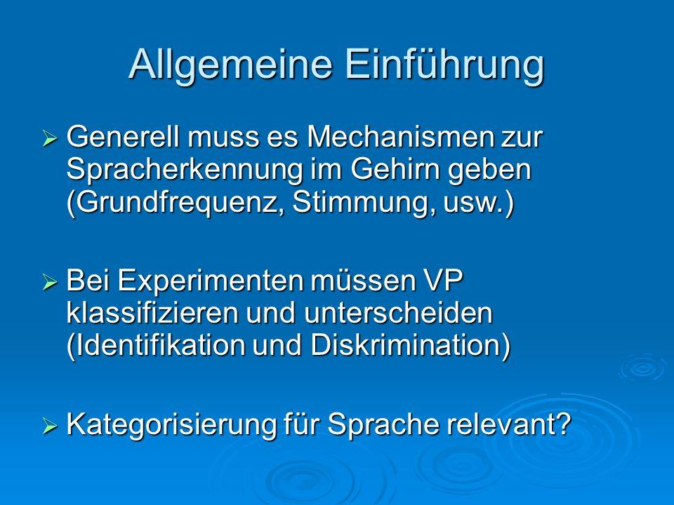 Experimentelle Definition Nach Liberman et al.(1957) Nach Liberman et al.