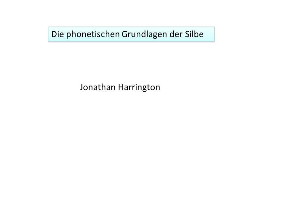 Die phonetischen Grundlagen der Silbe Jonathan Harrington