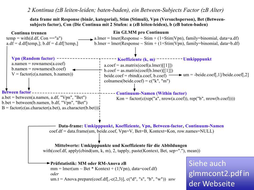Siehe auch glmmcont2.pdf in der Webseite
