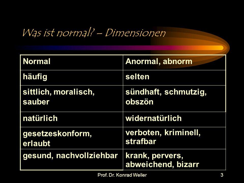 Prof.Dr. Konrad Weller4 Was ist normal. – Phänomene Vorehelicher Sex .