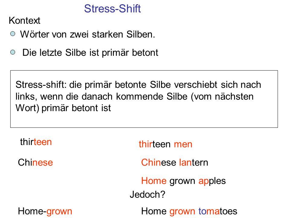 Hat die rhythmische Zuordnung syllable- oder stress- timed etwas mit der Regelmäßigkeit der Silbendauer zu tun.