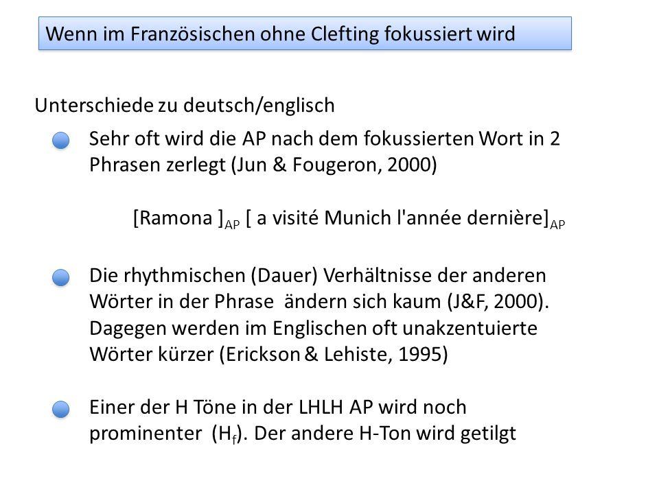 Akzentuierung und Fokussierung Enge Fokussierung in deutsch Melanie hat im vorigen Jahr München besucht, oder? Nein, Ramona hat München im vorigen Jah