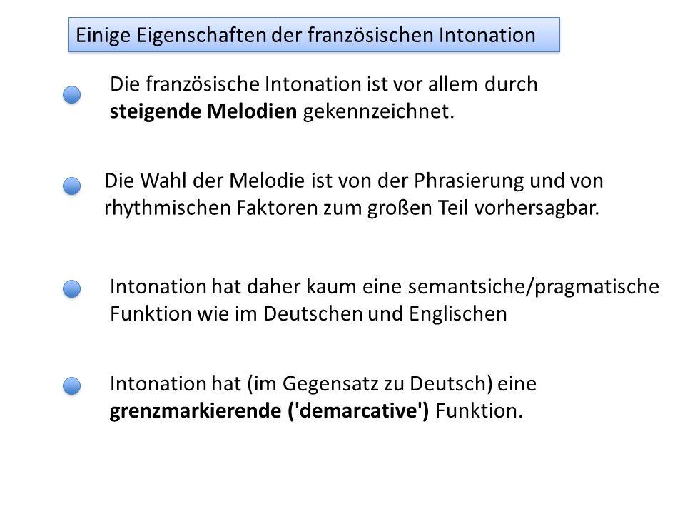 lecoléreuxgarçonment àsamère L1L1 L1L1 H1H1 H1H1 L2L2 L2L2 H* L1L1 L1L1 H1H1 H1H1 L% AP IP Der Grenzton (aus Jun & Fougeron, 2002)
