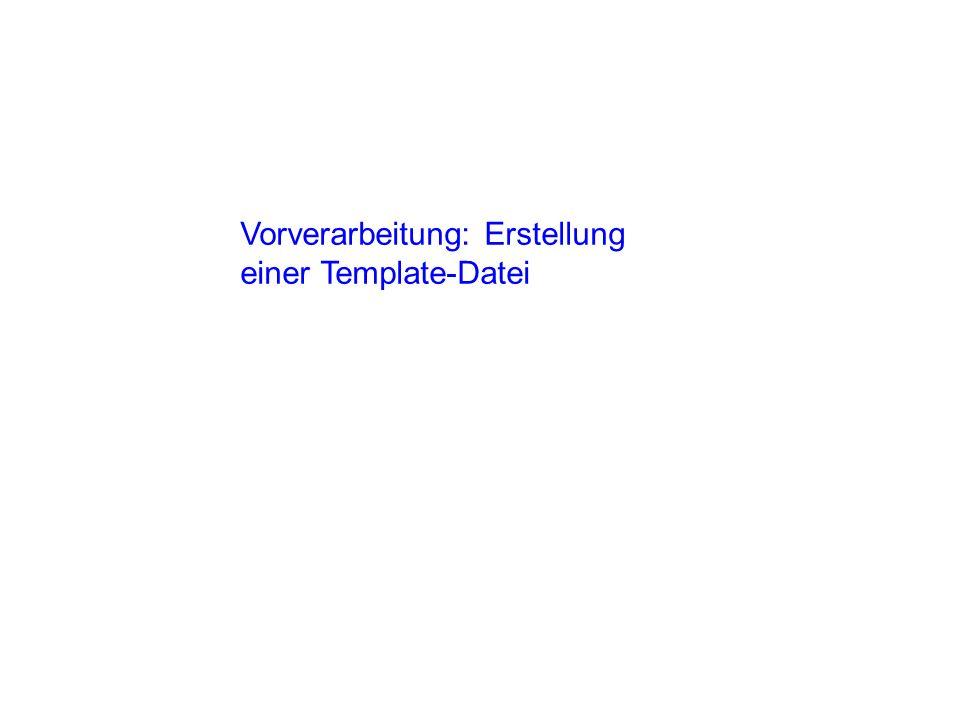 3.Die Template-Datei timetable editieren 4. Den Pfad aus 1.