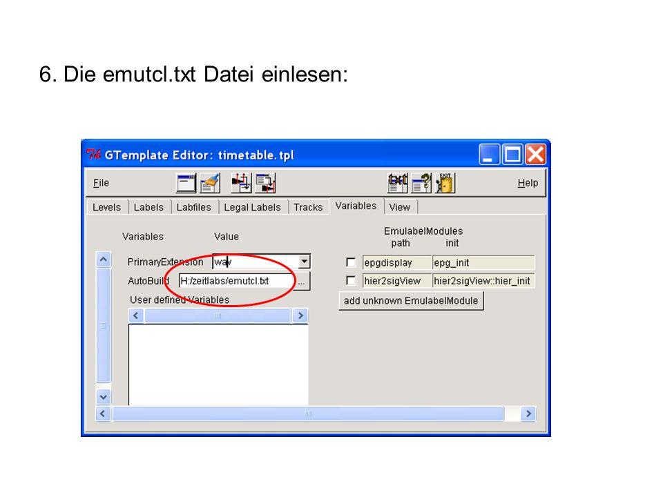 Template-Datei ändern