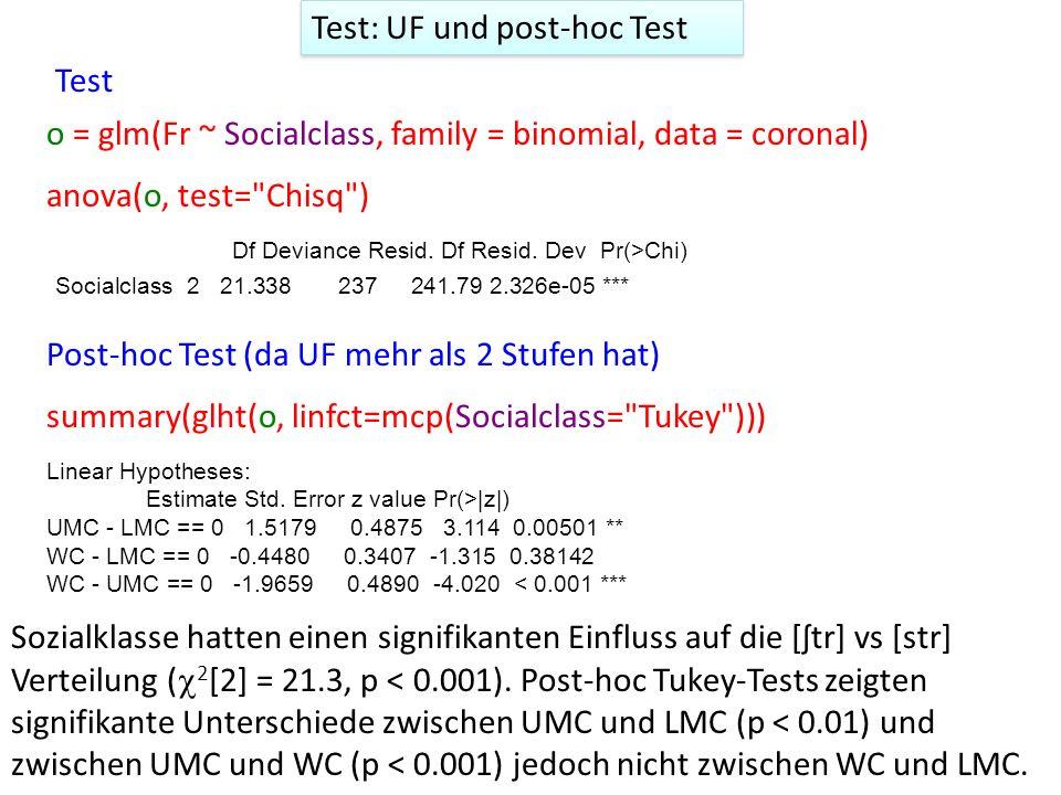 Drittes Beispiel: numerischer UF ovokal = read.table(file.path(pfadu, ovokal.txt )) Zwischen 1950 und 2005 wurde der Vokal in lost entweder mit hohem /o:/ oder tieferem /ɔ/ gesprochen.