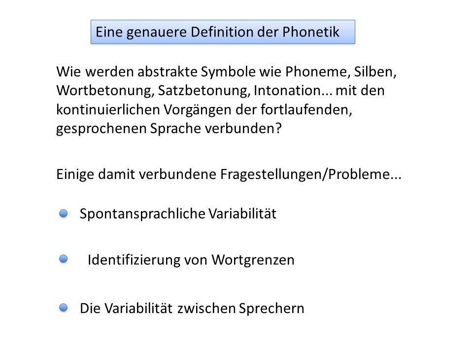 Wie werden abstrakte Symbole wie Phoneme, Silben, Wortbetonung, Satzbetonung, Intonation...