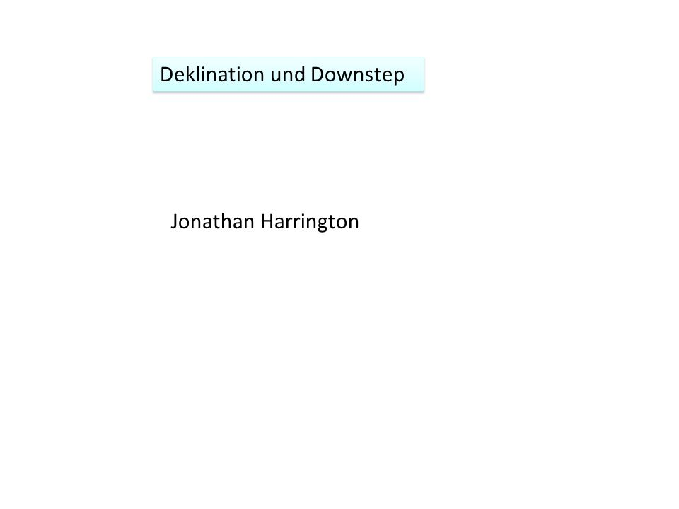 Deklination als Downstep in Intonationssprachen 1.