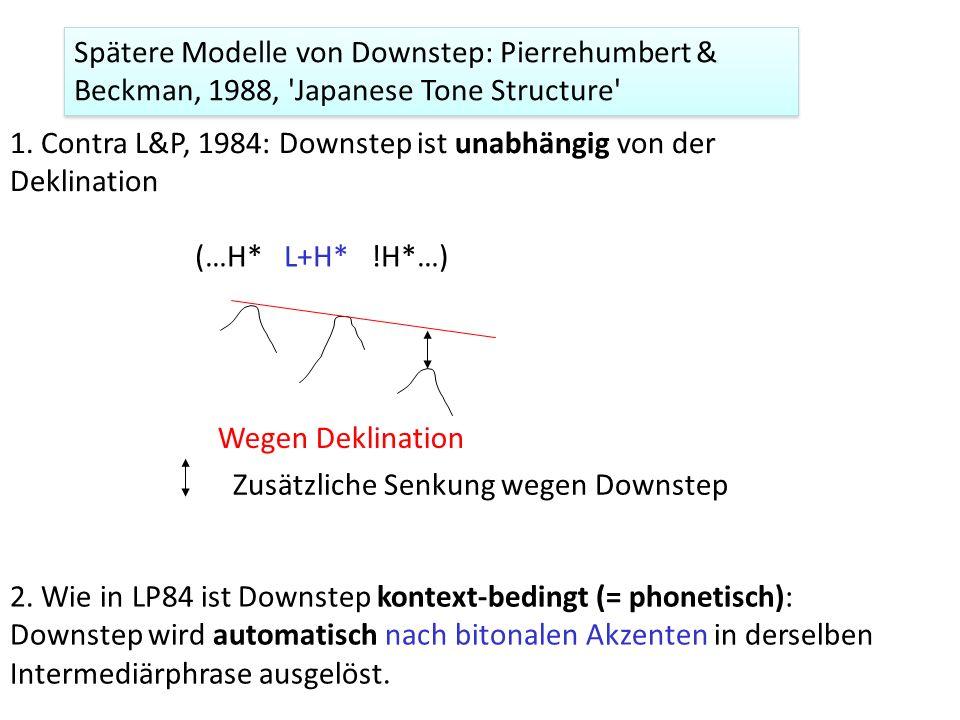 180 – (0.3 x 180) = 126 Hz 126 – (0.3 x 126) = 88.2 Hz 180 Hz H* !H* … die LP84 Formel für die Berechnung von Downstep keine Dauern einschließt. 2. Di