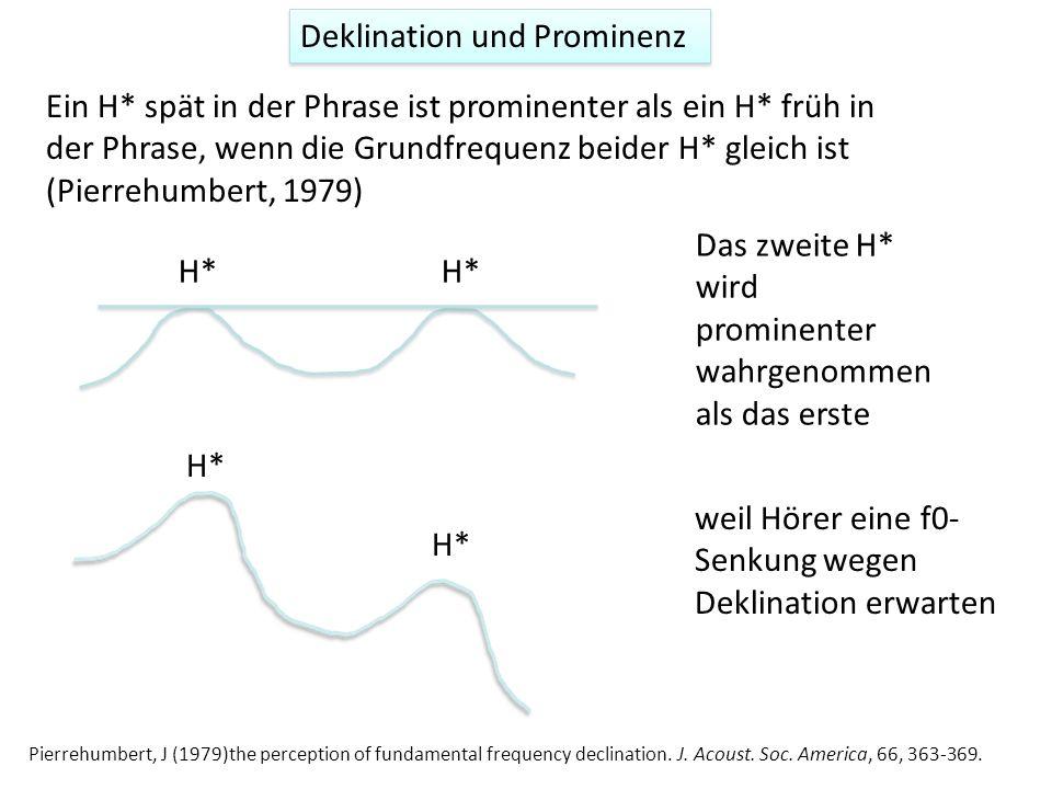 Auf der anderen Seite zeigt Shih (1997)* Deklination in H-Tönen in Mandarin-Chinesisch (es könnte daher sein, dass Deklination sprachbedingt und daher