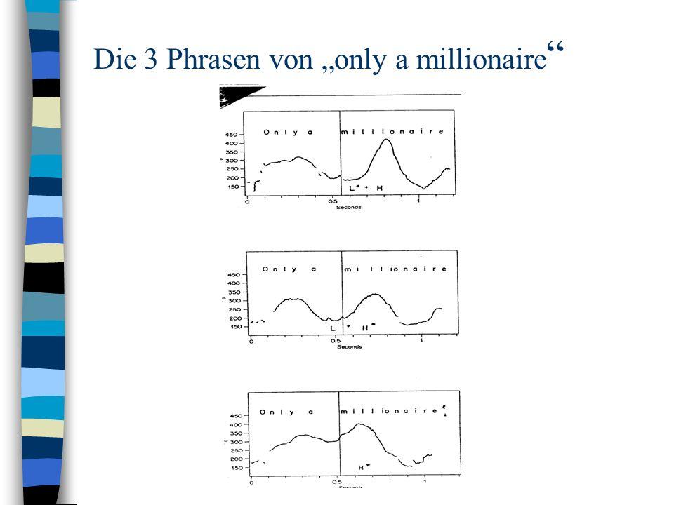 Die 3 Phrasen von only a millionaire