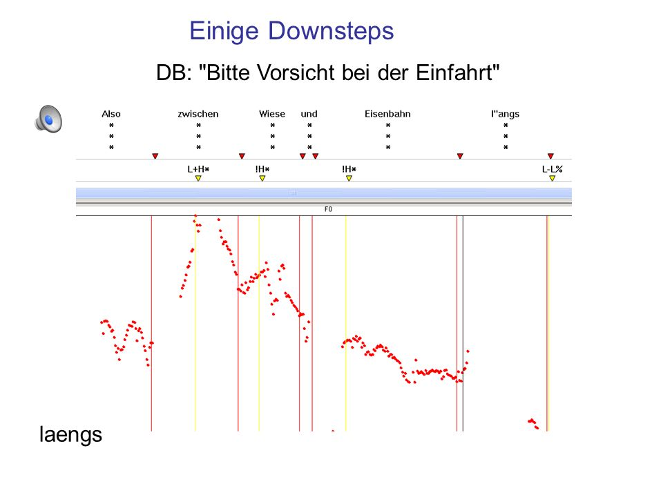 TOBI-Transkription mit Downstep !H* !H* kann nicht der erste Tonakzent der ip sein.