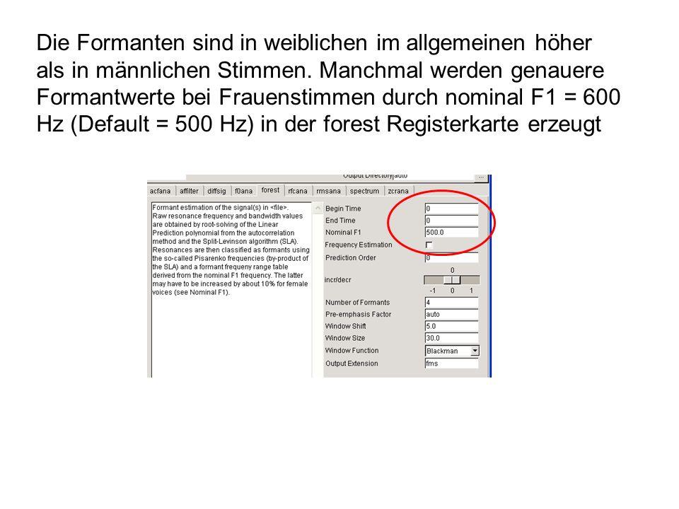Fensterlänge 25 ms -Verschiebung 5 ms Fensterlänge 100 ms -Verschiebung 100 ms dB Parameter: Lautstärke (dB-RMS)