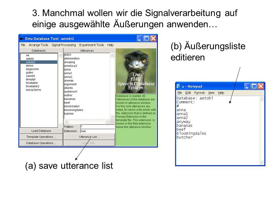 5. Template Datei modifizieren (Damit Emu weiß, wo sich die neuen Signale befinden)