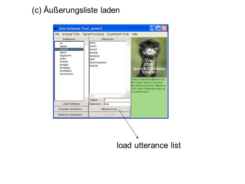 load utterance list (c) Äußerungsliste laden